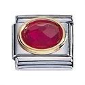 Afbeelding van Zoppini - 9mm - Synthetische steen rood
